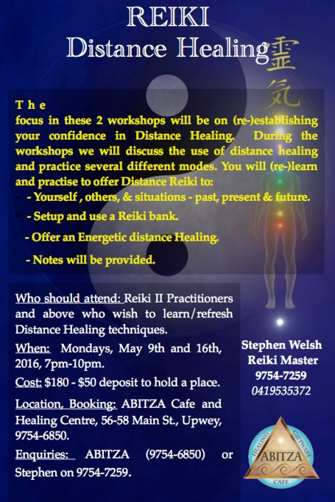 Distance Reiki Workshop